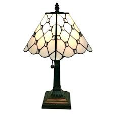 dale tiffany style stained glass mission lamp