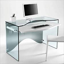 adorable designer desk for home ideas with rectangle shape clear acrylic computer table with keyboard shelf amazing glass office desks