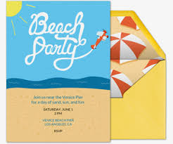 Beach Invitation Free Beach Party Online Invitations Evite