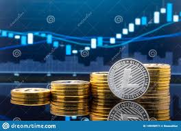 Litecoin And Cryptocurrency Investing Concept Stock Image