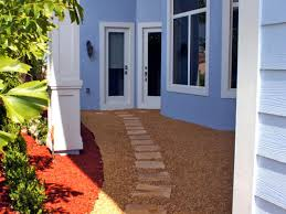 an inviting stone walkway