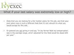 Salary Negotiation Email Ivy Exec Webinar Salary Negotiation Webinar With Sarah Stamboulie