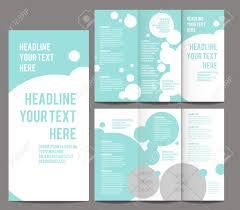 katalog design templates zarte blasen stil tri broschüre und katalog vector konzept template