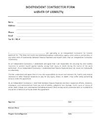 Free Printable Business Templates Photo Waiver Template Photography Form Contractor Liability