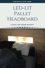 Led Lit Pallet Wood Headboard 1001 Pallets