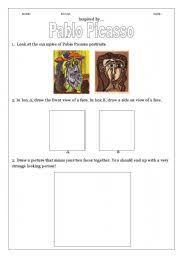 english worksheets examining the art of pablo picasso english worksheet examining the art of pablo picasso