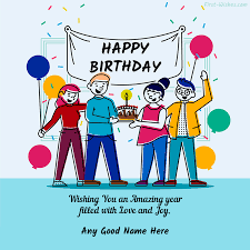 free birthday wishes message with name