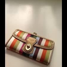 Legacy Stripe Turn-lock Wallet