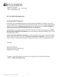 Cover Letter For Nursing School Application Adriangatton Com