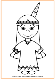 Native American Girl Coloring Page 1500 Free Paper Dolls At
