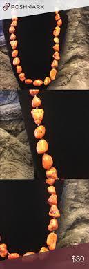 3/$20 Vintage Orange Stone Necklace <b>Magnet</b> Lock Vintage Orange ...