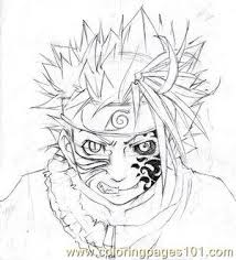 Sasuke Half Sasuke By Ovolon Coloring Page Free Sasuke Coloring
