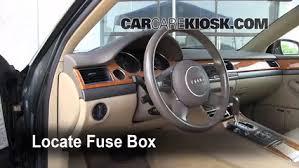 interior fuse box location 2004 2010 audi a8 quattro 2004 audi  at Audi A4 Fuse Box Location 2017 Footwell