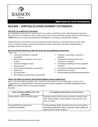 Accomplishments Resume Examples Free Resume Example And Writing