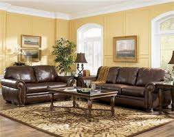 modern coffee table decor unique brown leather living room