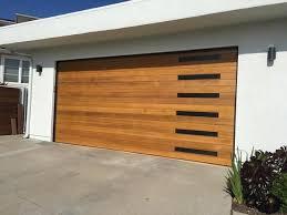 wood garage door. Emilio - Modern Style Custom Wood Garage Door
