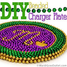 view in gallery beaded charger plate