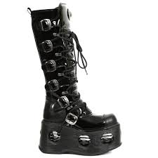 m 314 s5 patent leather tall new rock boots with spring platforms