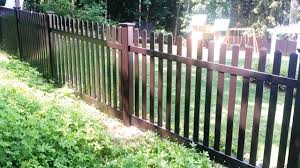 black vinyl picket fence. Black Vinyl Picket Fencing Fence