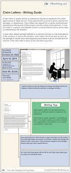 Make A Claim Letter Sample Download Free Business Letter Templates