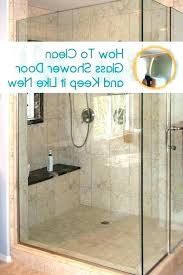 how to clean hard water stains off glass how to clean glass shower doors with hard