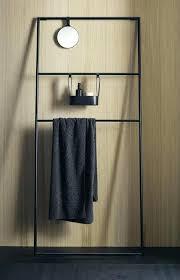 standing towel rack brushed nickel. Standing Towel Rack For Bathroom Free Stainless Steel Beautiful Dark Matt . Brushed Nickel
