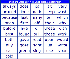 Second Grade Sight Words Flash Cards Magdalene Project Org