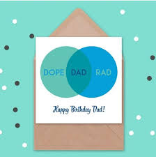 Birthday Venn Diagram Dope Rad Dad Venn Cards Pinterest Dad Birthday Cards Father
