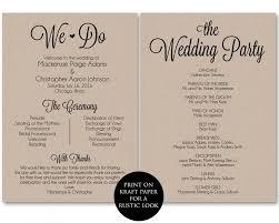Wedding Programs Template Free 28 Inspirational Wedding Ceremony Program Templates Free