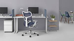 Ergonomic office design Interactive Blue Mirra Office Chair At Workpoint With Sittostand Steelcase Ergonomic Office Furniture Herman Miller
