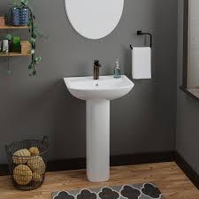 lara 510 pedestal combo bathroom sink