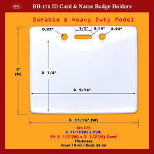 identity card size umx durable and heavy duty credit card size photo id card holders supply