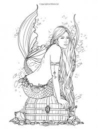 Small Picture Mermaid Coloring Pages For Adults Coloring Pages