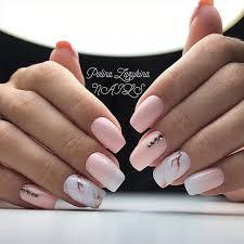 Pink Nail Art Design Pale Pink White Marble Acrylic Nail Art Idea Nail Art