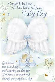 Congratulations For A Baby Boy Greeting Card Baby Congratulations Baby Boy
