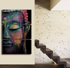 Relaxing Buddha Canvas <b>3 Pcs</b> Wall Art