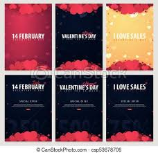 Valentines Flyers Set Of Valentines Day Sale Posters And Backgrounds Wallpaper Flyers Invitation Posters Brochure Voucher Banners Vector Illustration
