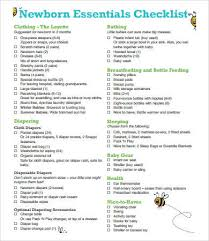 New Baby Checklist 9 Free Pdf Documents Download Free