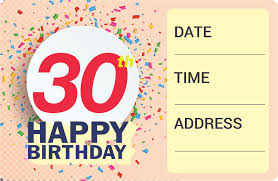 this free 30th invitation also contains directions on methods to emble in your party you can obtain your free printable 30th birthday invitation below