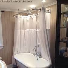 home design stand alone tub with shower terrific clawfoot deckmount enclosure bo w gooseneck faucet with