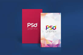 Cool Vertical Business Card Mockup Free Psd Download Vertical