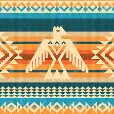 Navajo Pattern Awesome Navajo Style Abstract Seavless Pattern With Eagle And Traditional