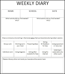 Weekly Meeting Calendar Template Childrens Weekly Diary Template Download Scientific Diagram