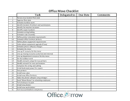 Office Move Checklist Template Excel Powerbots Co