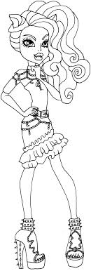 Monster High Colouring Pages Clawdeen