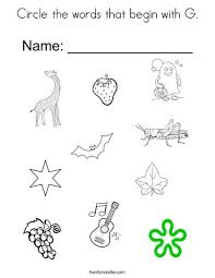 Worksheets are no slide title, jolly phonics, , phonics consonant blends and h digraphs, jolly ph. Circle The Words That Begin With G Coloring Page Alphabet Worksheets Preschool Words Alphabet Preschool