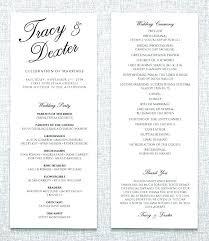 Wedding Programs Template Free Wedding Program Template