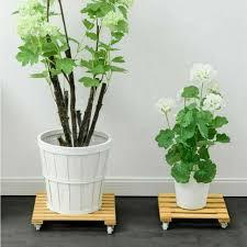 30cm round wooden garden plant pot