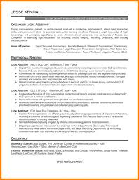 Secretary Resume Objective For Study Legal Statement Examples