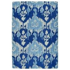 target blue ikat outdoor rug hand tufted 5 x free